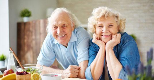 anziani felici