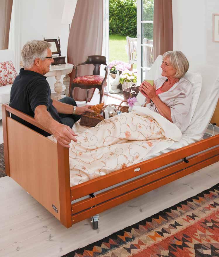 Letto ortopedico elettrico per anziani e disabili tecnosan service - Letto ortopedico con sponde ...