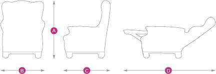 dimensioni poltrona reclinabile